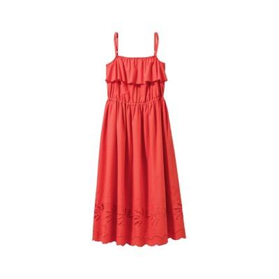 大きいサイズ スカラップ刺しゅうワンピース ,スマイルランド, ワンピース, plus size dress