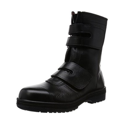 [ドンケル] 安全靴 マジック式 ラバー2層底 耐滑 耐延焼 JIS T8101革製S種E・F合格 R2-54 ブラック 26.5