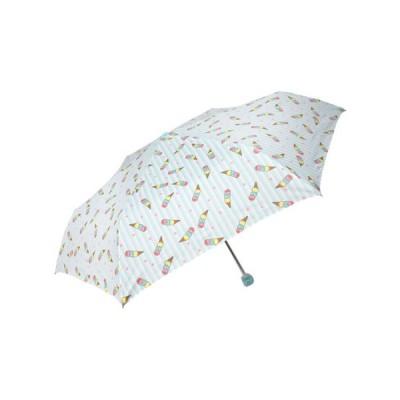 折りたたみ傘 55cm アイスクリーム サックス(1個入)