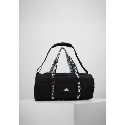 アディダス ショルダーバッグ メンズ バッグ ESSENTIALS 3 STRIPES SPORT DUFFEL BAG UNISEX - Sports bag - black/white