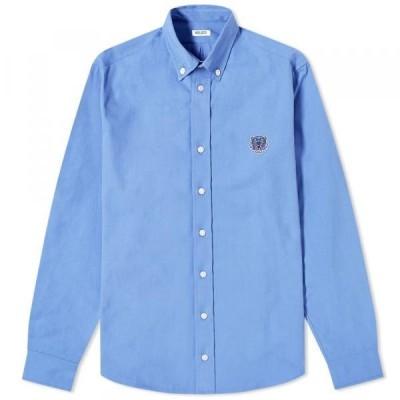 ケンゾー シャツ ジャケット メンズKenzo Button Down Tiger Twill ShirtLavender
