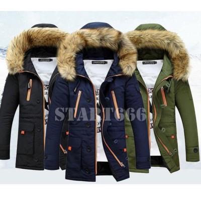 メンズ 中綿ジャケット 中綿コート トレンチコート ビジネスジャケット フード付き ブルゾン ジャンパー 紳士服