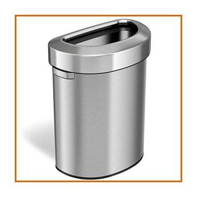 送料無料 iTouchless 18ガロン セミラウンド ステンレススチール オープントップ ゴミ箱 リサイクル容器 68