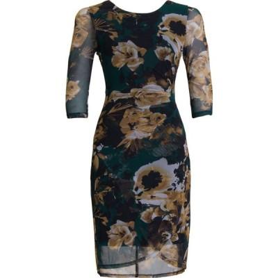 コネクテッド Connected レディース ワンピース ワンピース・ドレス Side-Ruched Sheath Dress Hunter Green