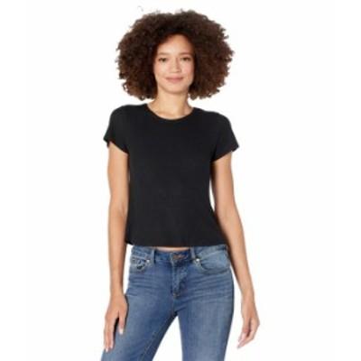 ボルコム レディース シャツ トップス Lil Thermal Short Sleeve T-Shirt Black