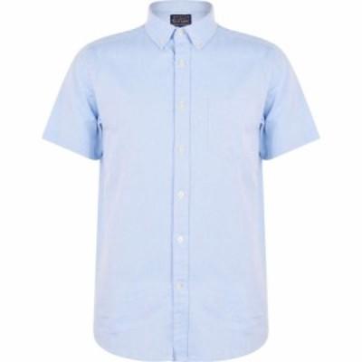 ハウィック Howick メンズ 半袖シャツ トップス Oxford Short Sleeve Shirt Sky