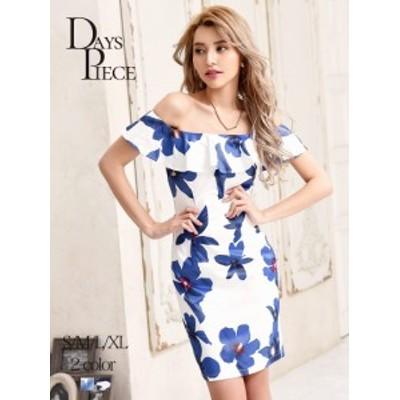 キャバ ドレス ワンピース パーティードレス DaysPiece 花柄 韓国ドレス 膝丈 タイトドレス ナイトドレス