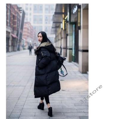 中綿コートレディースロングフード付きキルティングコートロングコートゆったり大きいサイズ無地黒冬アウター秋冬30代40代