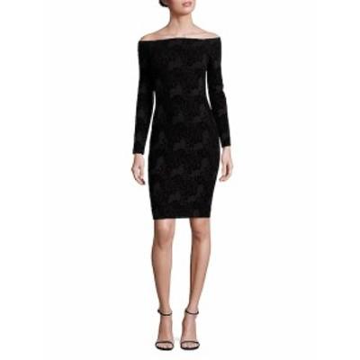 レアジョン レディース ワンピース Daphne Off-The-Shoulder Lace-Print Dress