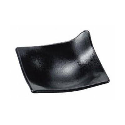 盛器 ワンホールプレート黒石目(S) [8.5 x 8.5 x 4.2cm] ABS樹脂 (7-568-12) 料亭 旅館 和食器 飲食店 業務用