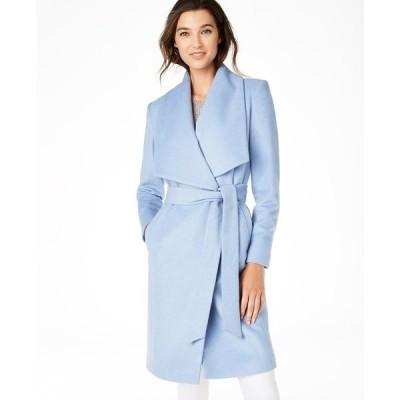 コールハーン コート アウター レディース Belted Wrap Coat Ice Blue