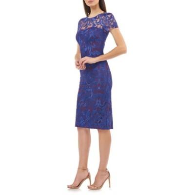 ジェイエスコレクションズ ワンピース トップス レディース Lace Cocktail Dress Royal Violet