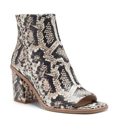 ヴィンスカムート レディース ブーツ・レインブーツ シューズ Bebinder Snake Print Leather Block Heel Shooties