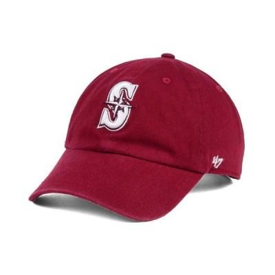 47ブランド メンズ 帽子 アクセサリー Seattle Mariners Cardinal and White Clean Up Cap