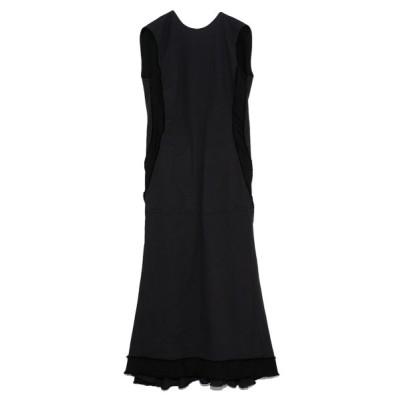 【スタイリング】 カットオフリネンロングドレス レディース NVY 1 styling/