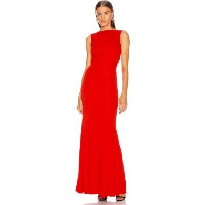 アレキサンダー マックイーン Alexander McQueen レディース ワンピース ワンピース・ドレス long jersey dress Lust Red