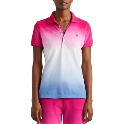ラルフローレン レディース Tシャツ トップス Petite Size Dip-Dye Pique Polo Shirt Multi