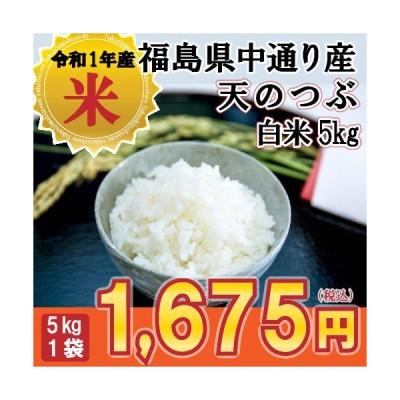 天のつぶ 米 お米 白米5kg 小分け対応 令和2年産 福島県中通り産