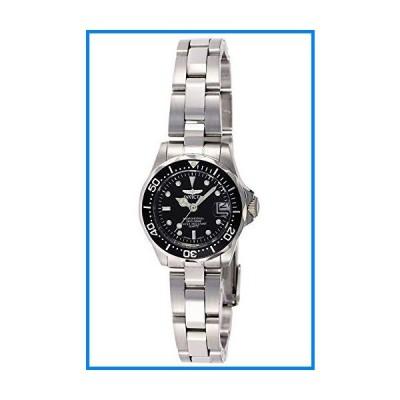 [インビクタ] 腕時計 Pro Diver レディ 石英 24.5mm ケース シルバー ステンレス鋼ストラップ ブラックダイヤル 8939 レディー