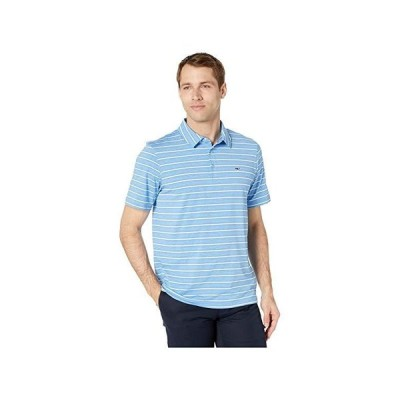 Vineyard Vines Lakeworth Stripe Sankaty Polo メンズ Shirts & Tops Cornflower