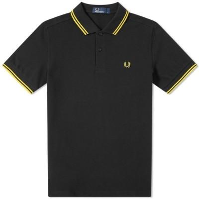 フレッドペリー Fred Perry Authentic メンズ ポロシャツ トップス fred perry slim fit twin tipped polo Black/Yellow