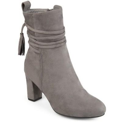 ジャーニーコレクション ブーツ&レインブーツ シューズ レディース Women's Zuri Bootie Grey