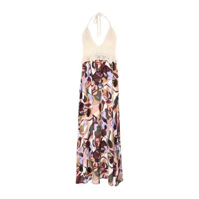 カオス KAOS ロングワンピース&ドレス ベージュ S アクリル 100% ロングワンピース&ドレス