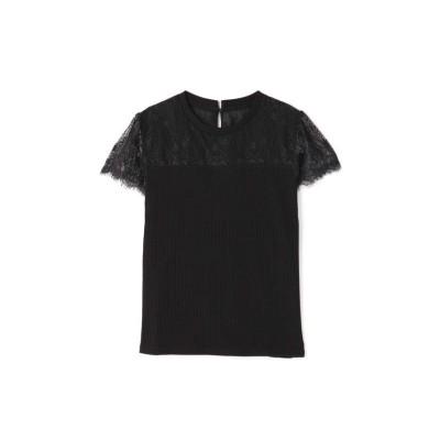 【プロポーション ボディドレッシング】 デコルテシアーリブテレコカットソー レディース ブラック S PROPORTION BODY DRESSING