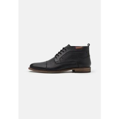ピアワン メンズ 靴 シューズ Lace-up ankle boots - black