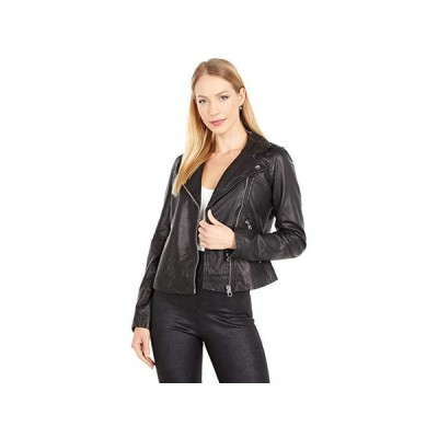 Madewell Washed Leather Motorcycle Jacket レディース コート アウター True Black