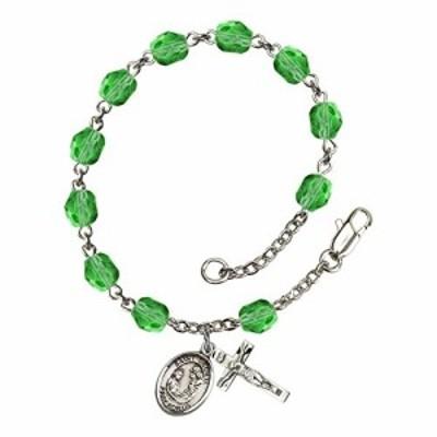 Bonyak Jewelry ブレスレット ジュエリー Bonyak Jewelry St. Cecilia Silver Plate Rosary Bracelet 6mm