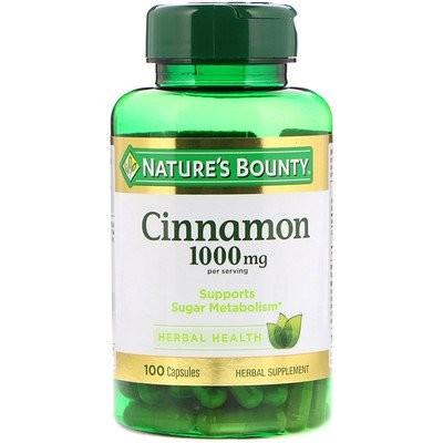 Cinnamon, 1,000 mg, 100 Capsules