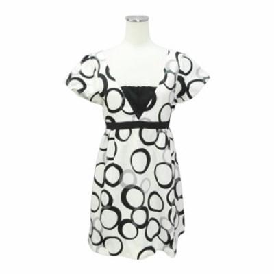 DELYLE デイライル「36」サークルパターン チュニック ワンピース (ドレス) 088276【中古】