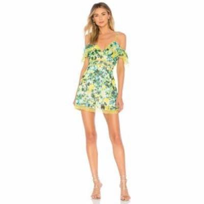 ハウスオブハーロウ1960 ワンピース x REVOLVE Devi Dress Kelly Green Floral