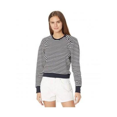 Bishop + Young レディース 女性用 ファッション パーカー スウェット Charlotte Puff Sleeve Sweatshirt - Navy/White Stripe
