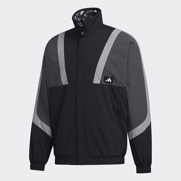 ADIDAS 男裝 外套 訓練 雙面 色塊 羅紋袖口和下擺 黑 灰【運動世界】GM4401