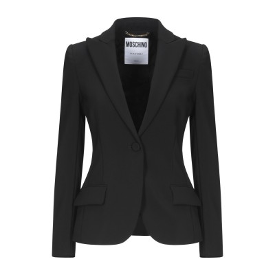 モスキーノ MOSCHINO テーラードジャケット ブラック 48 ポリエステル 89% / ポリウレタン 11% テーラードジャケット