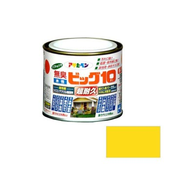 アサヒペン 水性ビッグ10 多用途 1/5L 202 黄色