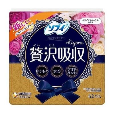 ユニ・チャーム ソフィ Kiyora 贅沢吸収 ホワイトフロ−ラルの香り 62枚入り