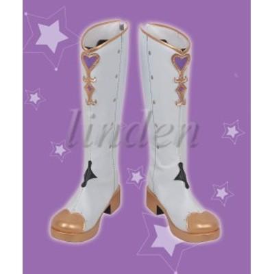 [linden] ラブライブ!サンシャイン!! lovelive 小原 鞠莉 おはら まり 風 コスプレ靴 コスプレブーツ 高品質 安い 激安 通販