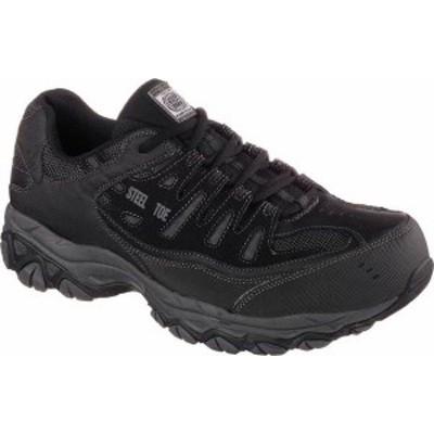 スケッチャーズ メンズ スニーカー シューズ Men's Skechers Work Relaxed Fit Crankton Steel Toe Shoe Black/Charcoal