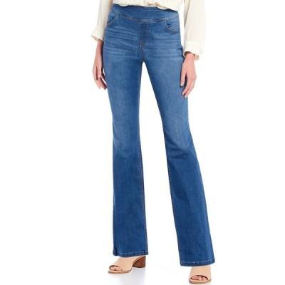 ウェストボンド レディース カジュアルパンツ ボトムス the PARK AVE fit Denim Mid Rise Bootcut Pants Light Blue Indigo