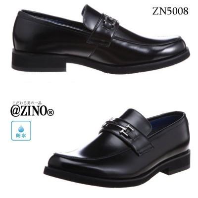 @ZINO ジーノ アットジーノ メンズ 防水 ビジネスシューズ ブラック ZN5008