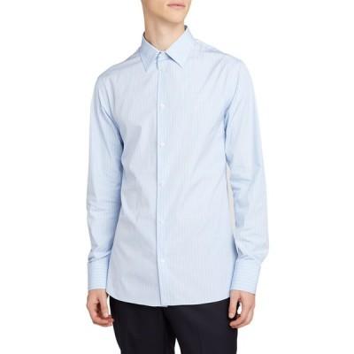 ザ ロウ メンズ シャツ トップス Men's Jasper Striped Point-Collar Sport Shirt