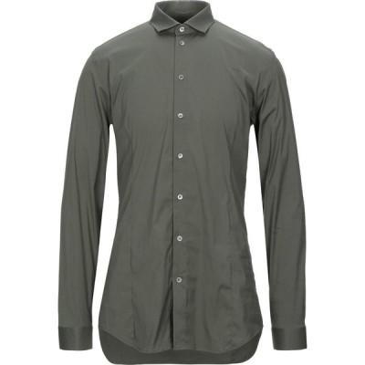 パトリツィア ペペ PATRIZIA PEPE メンズ シャツ トップス solid color shirt Military green