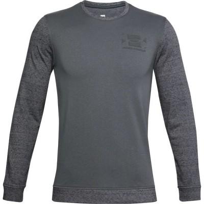 アンダーアーマー シャツ トップス メンズ Under Armour Men's Sporstyle Terry Long Sleeve Shirt PitchGrayFullHeather