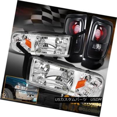 ヘッドライト 1994-2001 Dodge RAM 1500 2500 3500シャイニークロームヘッドライト+ Dar