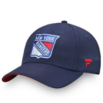 ファナティクス 帽子 アクセサリー レディース New York Rangers Fanatics Branded Women's Authentic Pro Rinkside Adjustable Hat Navy