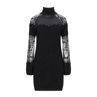 レリッシュ RELISH ミニワンピース&ドレス ブラック XS レーヨン 80% / ナイロン 20% ミニワンピース&ドレス