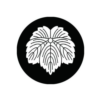 家紋シール 白紋黒地 三河菱 布タイプ 直径40mm 6枚セット NS4-1589W